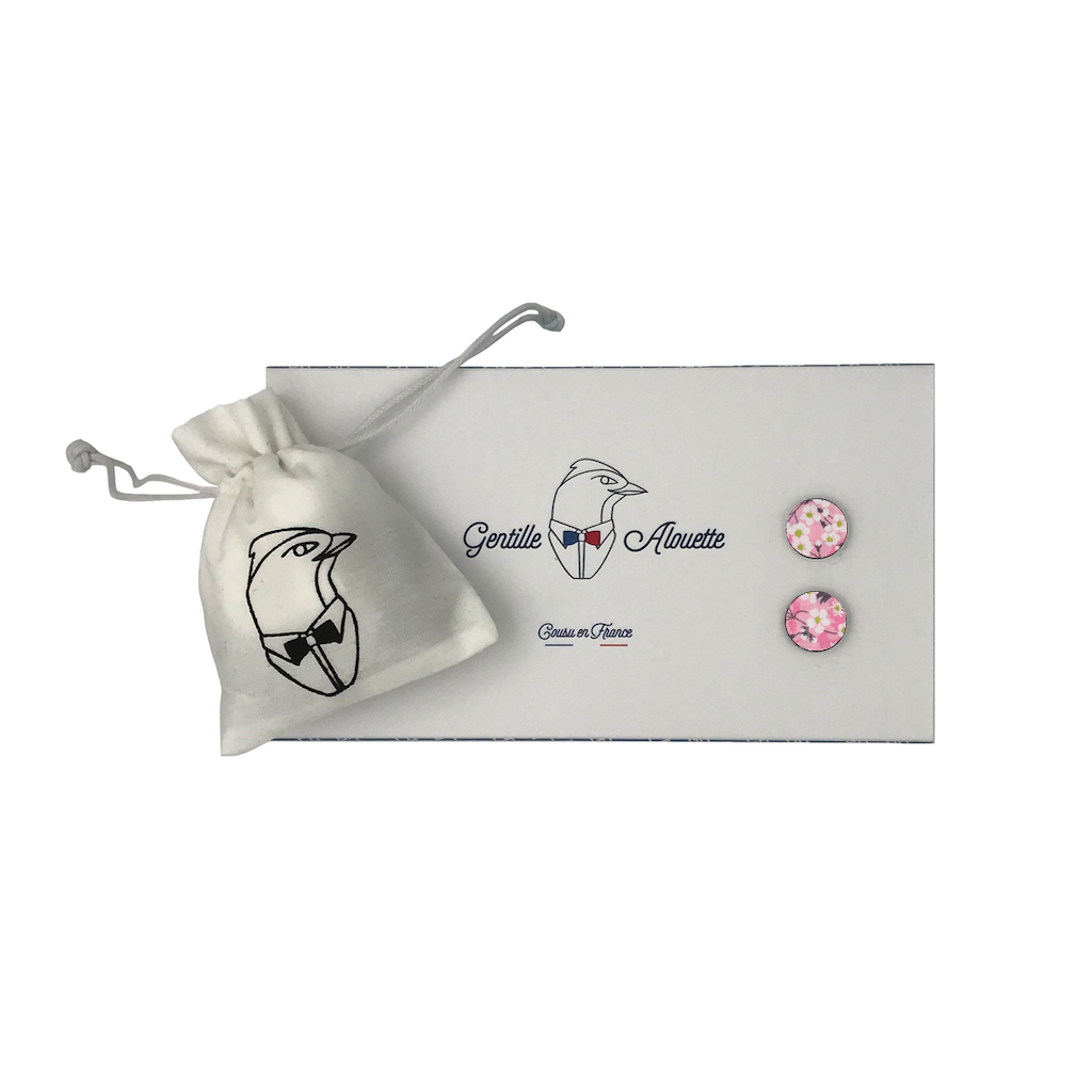 boutons de manchette mitsi valeria rose liberty packaging gentille alouette