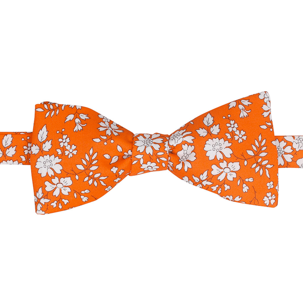 noeud papillon liberty capel orange gentille alouette