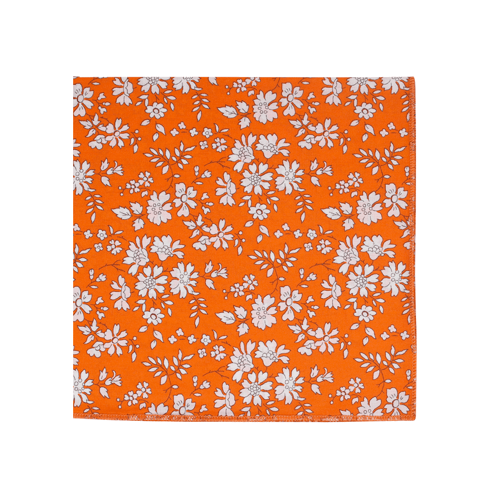 pochette de costume liberty capel orange gentille alouette