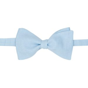 noeud papillon chambray bleu ciel