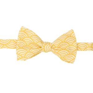 noeud papillon à vagues japonaises jaune