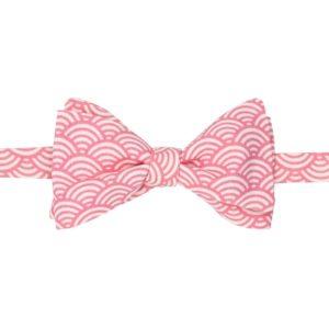noeud papillon à vagues japonaises rose